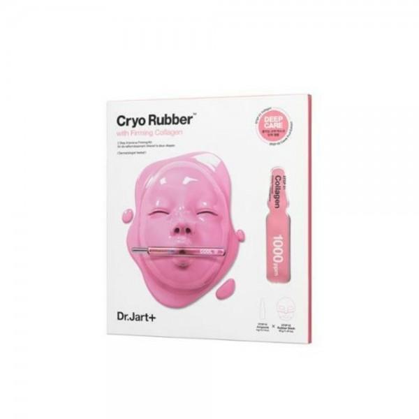 DR. JART CRYO RUBBER WITH FIRMING COLLAGEN stangrinamasis veido kaukės ir ampulės rinkinys, 40 g + 4 g