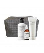 DERMAHEAL HAIR kalėdinis rinkinys plaukams: šampūnas, 250 ml + plaukus stiprinantis kondicionierius-kaukė, 150 ml + koncentruotas serumas, 50 ml + kosmetinė